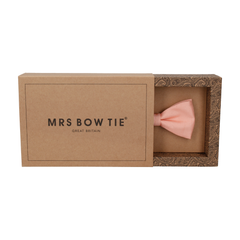 Faux Silk Salmon Pink Bow Tie