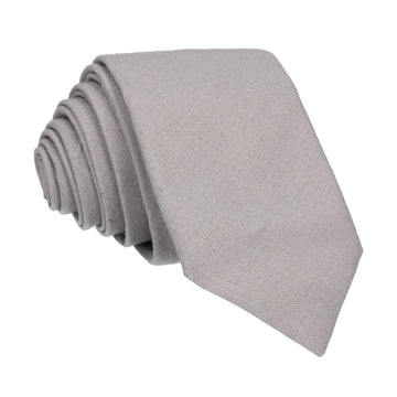 Cotton Grey Tie