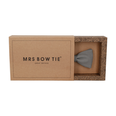 Brushed Linen in Storm Grey Bow Tie