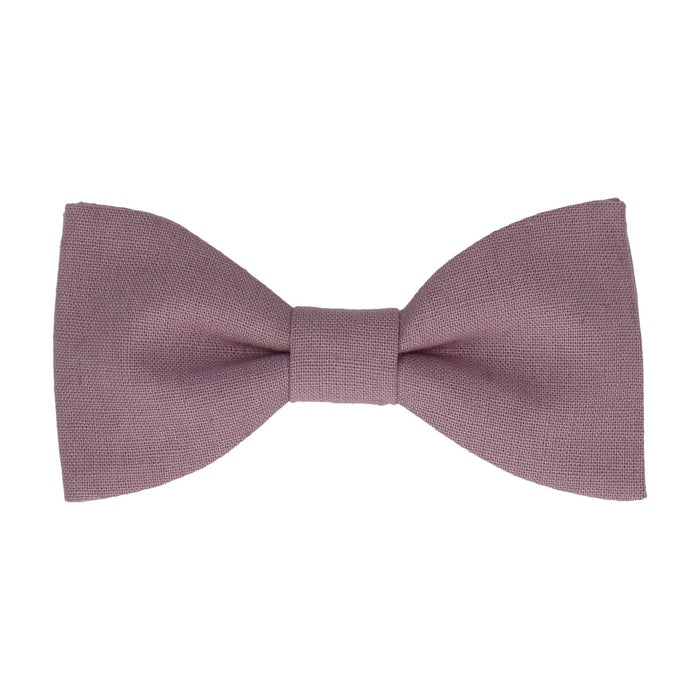 Brushed Linen in Lavender Bow Tie -Standard-Pre-Tie- - bowties by Mrs Bow Tie