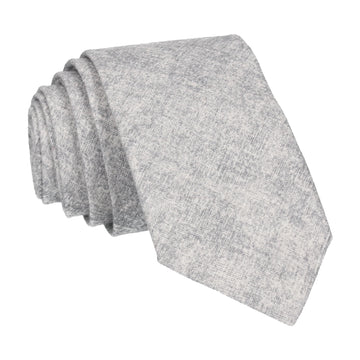 Cotton Grey Marl Tie