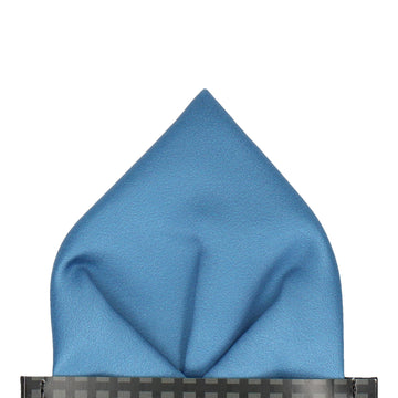Plain Solid Air Force Blue Pocket Square