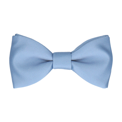 Plain Solid Steel Blue Bow Tie