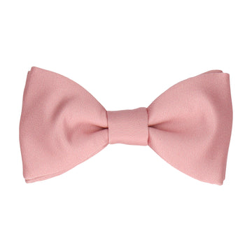 Plain Solid Pink Rose Bow Tie