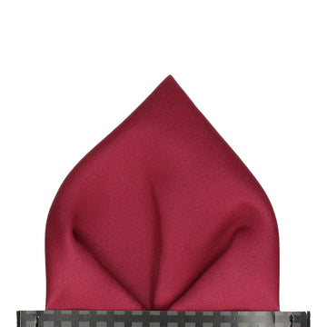 Plain Solid Bordeaux Red Pocket Square