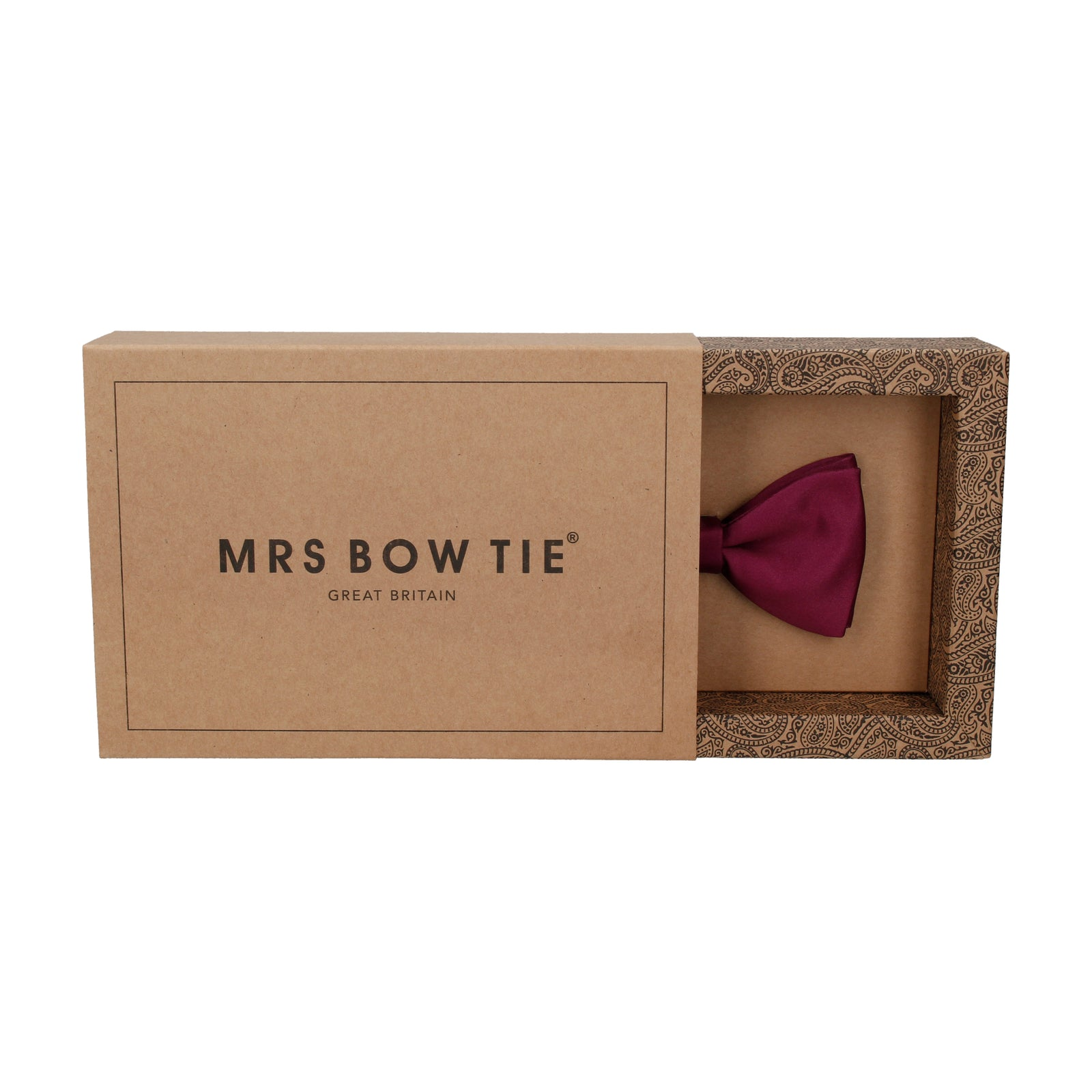 Plain Solid Mulberry Pink Bow Tie