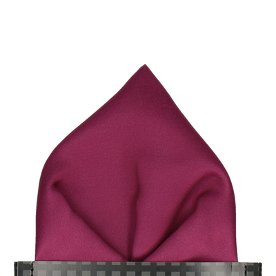 Plain Solid Mulberry Pink Pocket Square