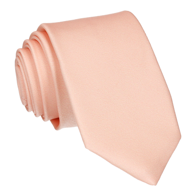 Plain Solid Light Peach Tie