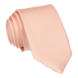 Classic Plain Light Peach Skinny Tie (Outlet)