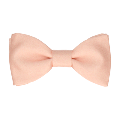 Plain Solid Light Peach Bow Tie