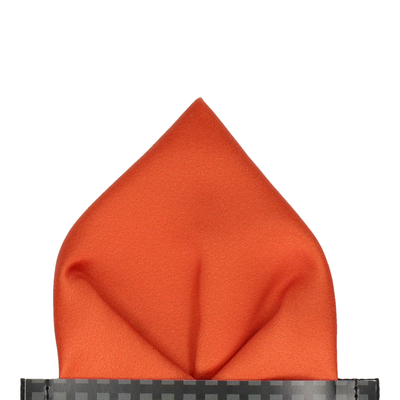 Classic in Sunset Orange Pocket Square