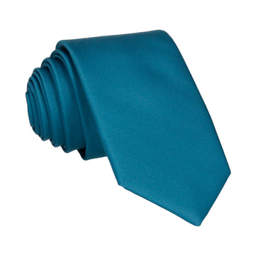 Plain Solid Emerald Sea Teal Tie