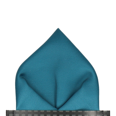 Plain Solid Emerald Sea Teal Pocket Square