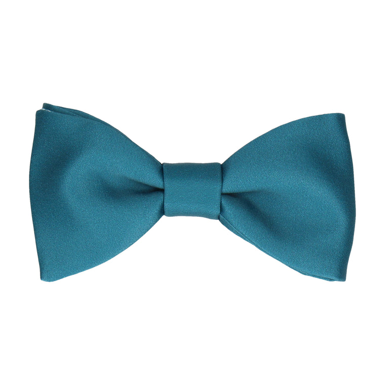 Plain Solid Emerald Sea Teal Bow Tie