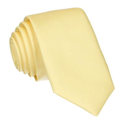 Plain Solid Lemon Yellow Tie