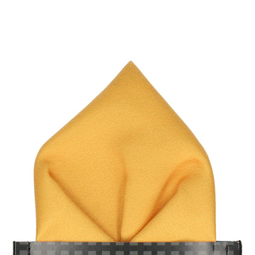 Plain Solid Mustard Gold Pocket Square
