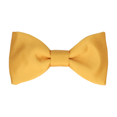 Plain Solid Mustard Gold Bow Tie