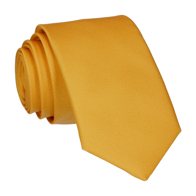 Plain Solid Vintage Gold Tie
