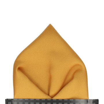 Plain Solid Vintage Gold Pocket Square