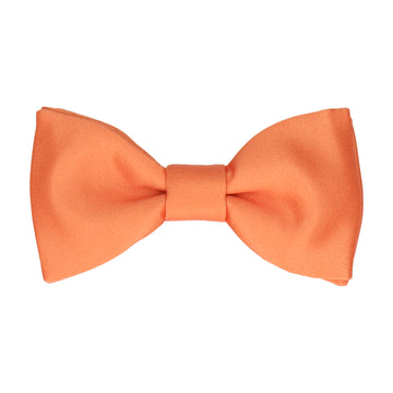 Plain Solid Tangerine Orange Bow Tie