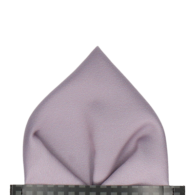 Plain Solid Silver Lavender Pocket Square