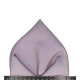 Classic in Silver Lavender Pocket Square