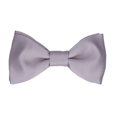 Plain Solid Silver Lavender Bow Tie