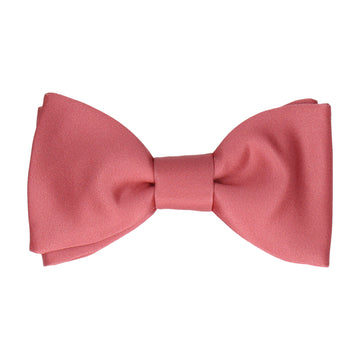 Plain Solid Rouge Pink Bow Tie