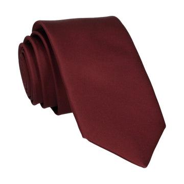 Plain Solid Maroon Red Tie