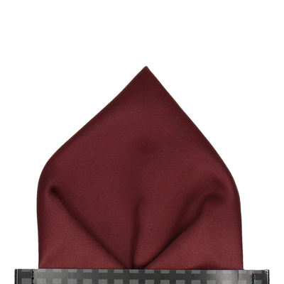 Plain Solid Maroon Red Pocket Square