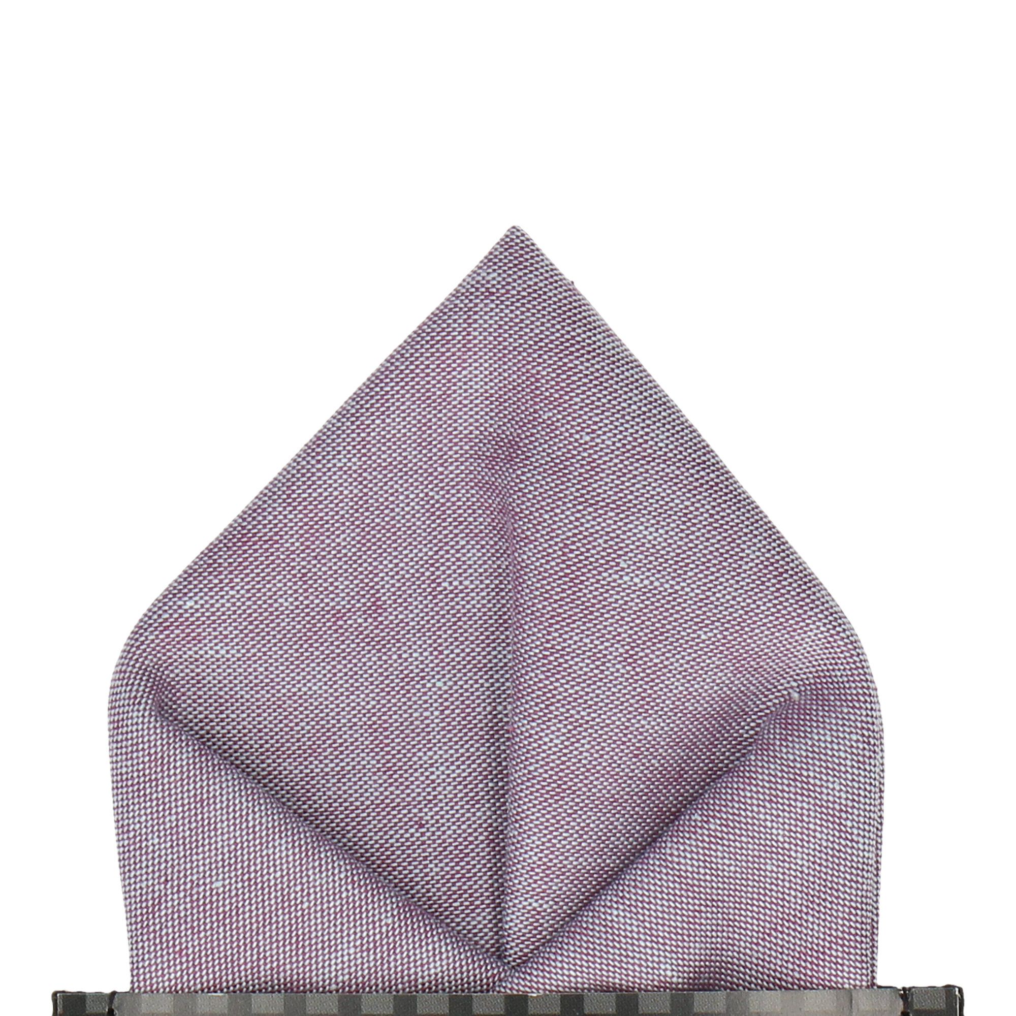 Cotton in Orchid Chambray Pocket Square
