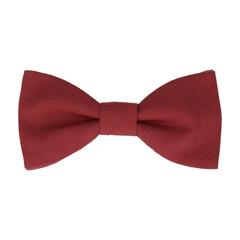 Brushed Linen Port Red Bow Tie