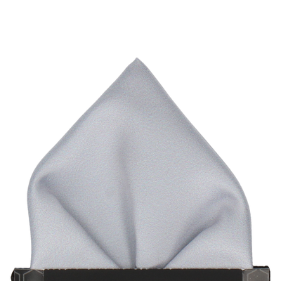 Classic in Platinum Pocket Square