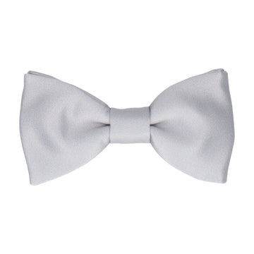 Plain Solid Platinum Grey Bow Tie