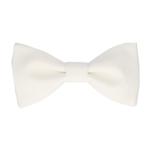 Grosgrain In Ivory Bow Tie