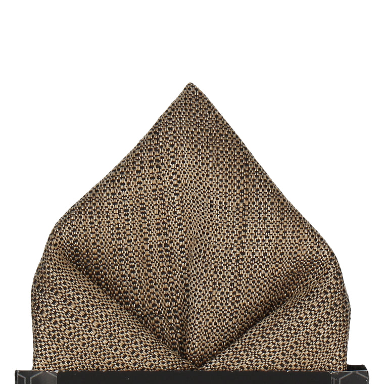 Luxury Gold Textured Pocket Square