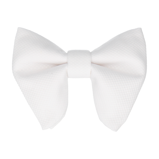 Marcella in White Large Evening Bow Tie