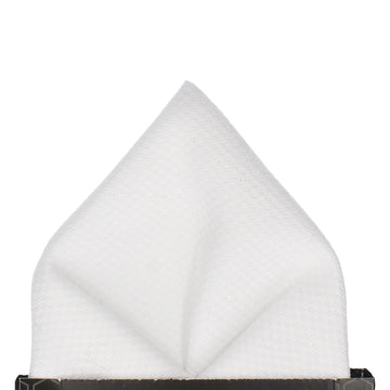 Marcella Formal White Pocket Square