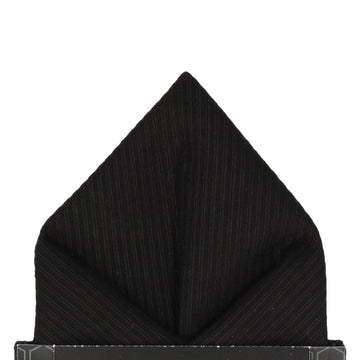 Black Grosgrain Pocket Square
