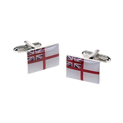 ROYAL NAVY'S WHITE ENSIGN CUFFLINKS