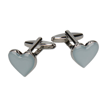 Grey Heart Cufflinks