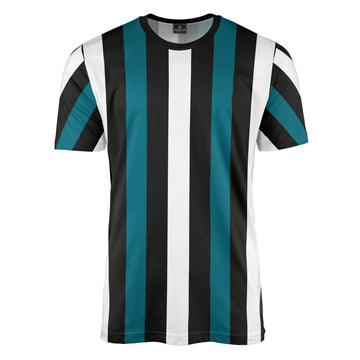 Black/White/Teal Stripe T-Shirt