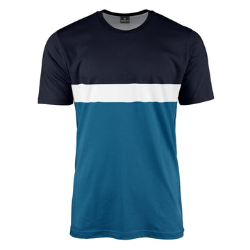 Horizontal Block Stripe T-Shirt
