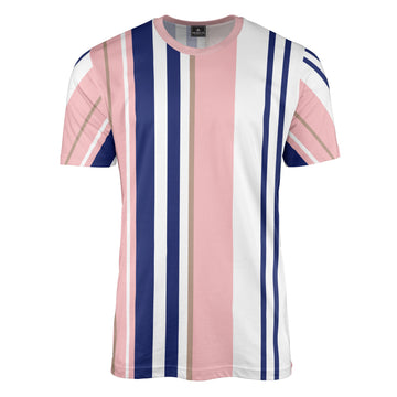 Multi Stripe Pink T-Shirt