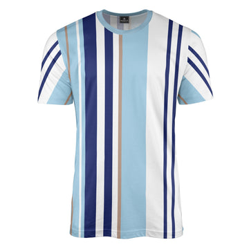 Multi Stripe Blue T-Shirt