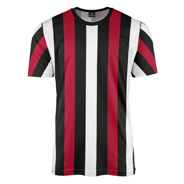 Black/White/Red Stripe T-Shirt