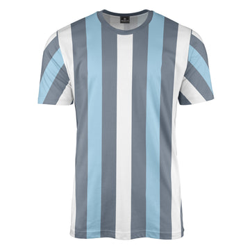 Grey/White/Sky Stripe T-Shirt