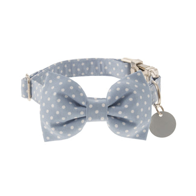 Chiswick in Dusty Blue Dog Collar