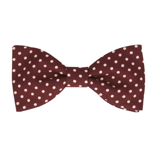 Chiswick in Burgundy Bow Tie -Standard-Pre-Tie- - bowties by Mrs Bow Tie