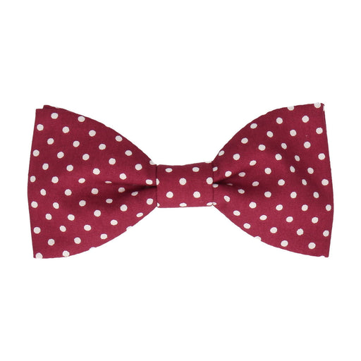 Chiswick in Cranberry Bow Tie -Standard-Pre-Tie- - bowties by Mrs Bow Tie